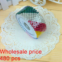 480 Pcs Straight Round Pearl Head Needle Fixed Position Dressmaking Sewing Pin