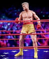 NECA Rocky IV - 40th Aniversario - Ivan Drago - Amarillo Short - Figura -
