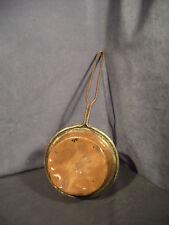 Copper Pan Ladle Pot Hand Forged Antique Iron Handle Vintage Hammered Copper