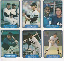 1982 Fleer Yankees 6 Card Lot Reggie Jackson Dave Winfield EX-MT Condition