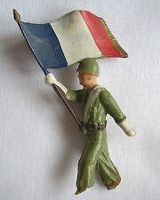figurine Starlux soldats armée année 70 porte drapeau à rénover
