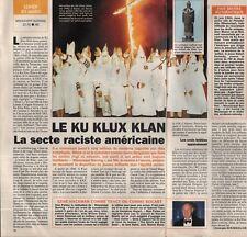 Coupure de presse Clipping 1994 Le Ku Klux Klan  (1 page 1/2)