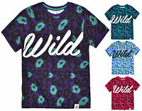 Boys Animal Print Wild Slogan Short Sleeved T Shirt Kids Top New Ages 7-13 Years