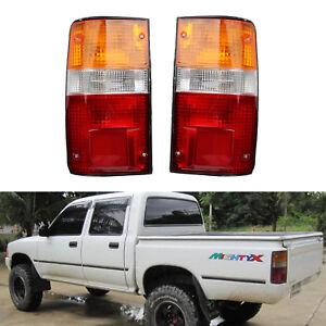 Pair Rear Lamp Tail Lights For Toyota Hilux MK3 LN RN YN Pickup 2-4WD 1989-1995