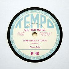 "JELLY ROLL MORTON (Piano) ""Shreveport Stomps"" (EE+) TEMPO R-48 [78 RPM]"
