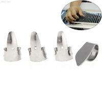 6E15 4pcs/set New Stainless Steel Protect Finger Banjo Picks Plectrum