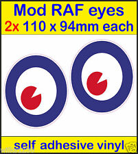 2x110mm RAF MOD Roundel eyes The Who Mod Target Scooter Decals sticker Vespa car