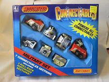 1989 Matchbox MOTORIZED Connectables Military 7-Pc. Set #1973 NIB