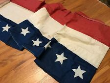 Antique Vintage Red White Blue American Flag Bunting WWII Era Patriotic Cotton