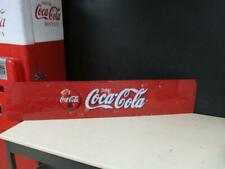 "Vintage Soda Pop Vending Machine Coca Cola Drink Plastic Red Sign 50"" x 10"""