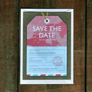 Luggage Tag Wedding Save the Date - Passport / Overseas / Travel / Destination