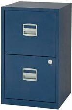 Bisley Metal Filing Cabinet 2 Drawer A4 Oxford Blue