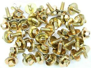 Honda Acura Body Bolts- M6-1.0 x 16mm Long- 10mm Hex- 19mm Washer 40 bolts #170F