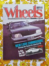 Wheels magazine March 1984 vintage car VK Commodore Camira Holdens