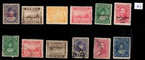 Lot #1  Hawaii United States mint used mixed condition