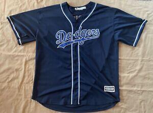Los Angeles Dodgers Clayton Kershaw 22 Navy Blue 60 Yrs Majestic Jersey Vintage
