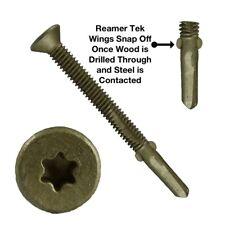Reamer Wood Tek Screws: Wood to Metal Fastening (Reamer Wings) Torx/Star Drive