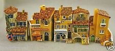 "NIB J CARLTON BY GAULT FRENCH MINIATURE PROVENCE BUILDING SET FIVE 2 1/4 "" high"