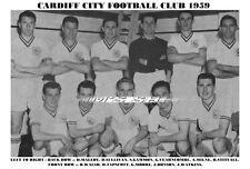 CARDIFF CITY  F.C. TEAM PRINT 1959 (TAPSCOTT / MOORE / BONSON)