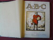 ABC 07 / 1925 .....  07 / 1926 REVUES D' ART MENSUELS RELIEES