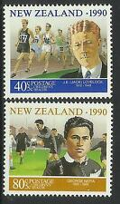 NEW ZEALAND 1990 HEALTH ATHLETICS & RUGBY 2v MNH