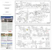 "TEN-TEC RX-340 PHOTOCOPY TECHNICAL MANUAL w/ 11x17"" DIAGRAMS + COLOR BROCHURE"