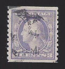 US #456 1914-16 Violet Type I Wmk 190 Perf 10 Vert Used VF Scv $170