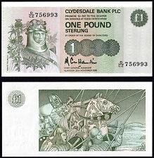 SCOZIA clydesdale bank plc 1 Pound (p211c) 1985 AU/UNC