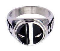 Deadpool Logo Stainless Steel Ring