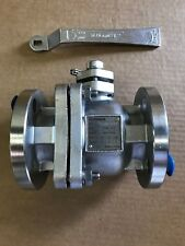 """stainless steel pfa lined ball valve 2"""" 150# flanged"""