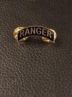US ARMY RANGER SMALL TAB LAPEL PIN BADGE GOLD Pin, veteran hat pin, military pin