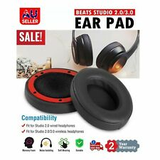 Soft Replacement Ear Pads for Beats by Dr. Dre Studio 2.0/3.0 Wired & Wireless