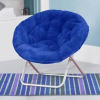 Folding Moon Chair Saucer Plush Round Seat Living Room Home Dorm
