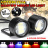 2x 12V Motorcycle Rear View Mirror Mount 3 LED Eagle Eye DRL Tail Light Lamp .+