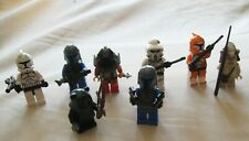 Lot 8 minifigs LEGO personnages Star Wars Ewok Arc Trooper Clones Pilotes