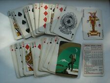 Vintage Playing Cards Backs RED INDIAN Look Out at Night Moon Snowy Mountain