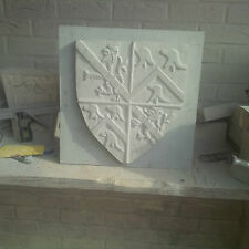 STONE CARVING OF COAT OF ARMS IN SANDSTONE OR LIMESTONE