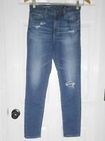 $198 AG Jeans - The High Rise Stevie Ankle Medium Wash - Size 25