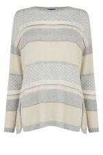 Warehouse women multi striped sparkle glitter stitch slouch oversized jumper 10