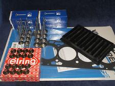 16x Ventil + Zylinderkopfdichtung Kopfschrauben Opel 2,2 Z22SE Schaftdichtungen