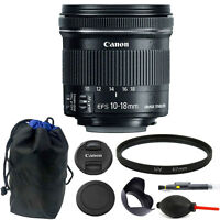 Canon EF-S 10-18mm f/4.5-5.6 IS STM Lens 67mm Kit for Digital SLR Camera