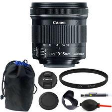 Canon EF-S 10-18mm f/4.5-5.6 IS STM Lens 67mm Kit for Digital SLR Camera