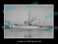 OLD LARGE HISTORIC AUSTRALIAN NAVY PHOTO OF THE HMAS TAMWORTH SHIP c1945