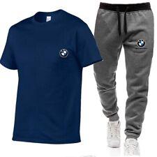 Zweiteiliges BMW Herren Laufbekleidung Fitness atmungsaktives T-Shirt + Hose