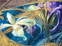 Rare Projet d'Étiquette Flacon de Parfum ou Boîte à Savon Art Nouveau & Peinture