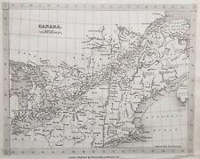1842 Antique Map; Canada - Alexander Findlay