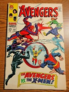 Avengers #53 Silver Age Key Fine vs X-men Cover Black Panther 1st Print Marvel