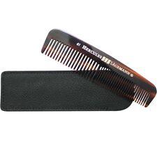 "Hercules Sagemann Mens Pocket Comb Sawcut In Leather Case 5"""