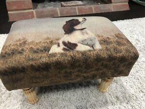 40cm Springer Spaniel Dog Rectangular Footstool MIN2153