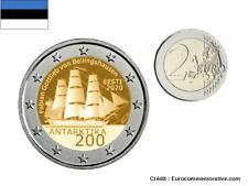 2 Euros Commémorative Estonie 2020 Antarctique UNC